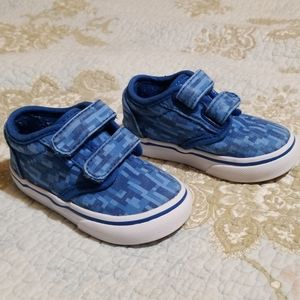 Vans Blue Velcro Toddler shoes, size 5